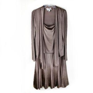 Joseph Ribkoff 3-piece metallic dress set size 12